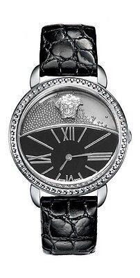 Versace Women's 93Q99BD008 S009 Krios Stainless Steel Micro Spheres Black Watch