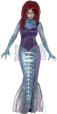 Meerjungfrau Nixe Zombie Kostüm NEU - Damen Karneval Fasching Verkleidung Kostüm