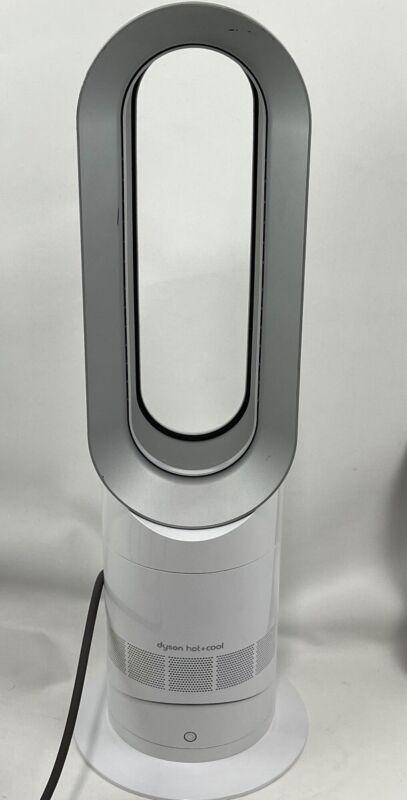 Dyson AM09 Hot + Cool Jet Focus Fan Heater - White/Silver  (IL/RT6-13536-AM09...