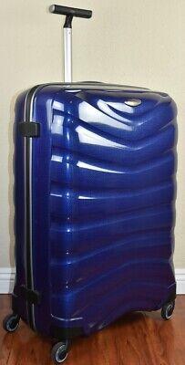 "Samsonite Firelite 81cm/30"" DEEP BLUE Spinner Luggage 4-wheeled 54537-1277 Demo"