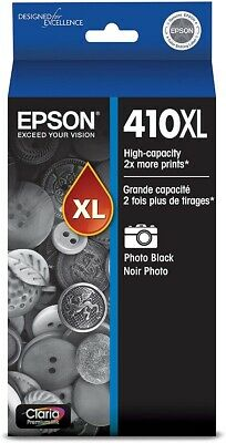 Epson 410XL Photo Black Ink Cartridge, High Capacity