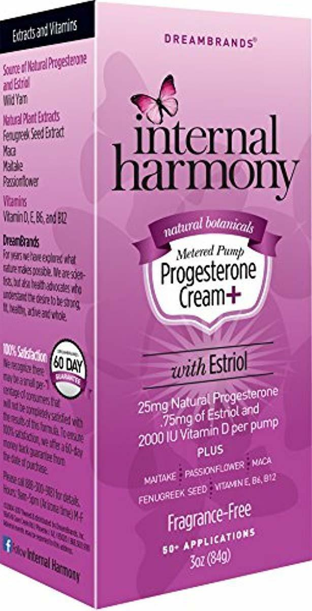 Internal Harmony Natural Progesterone Cream + with Estriol w