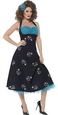 Damen 1950er Jahre 50er Cha Digregorio Grease Film Kostüm Kleid Outfit (Grease Kostüm Film)