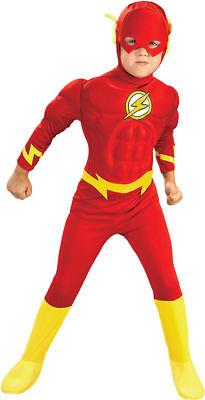 Halloween Costumes Flash (Morris Costumes Boys Superhero Flash Muscle Chest Child Costume 8-10.)
