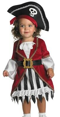 Pirate Baby Girl Costume (Childs Girls Puny Punk Pirate Princess Costume - Infant Toddler 12-18)