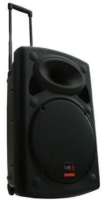 MOBILE PA SOUND ANLAGE Akku-MP3-USB-SD Funkmikrofon Rollkoffer Soundsystem - NEU