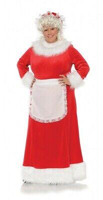 Plus Size Christmas Costume (Mrs Santa Claus Red Velvet Christmas Costume Dress Adult Womens Plus Size)