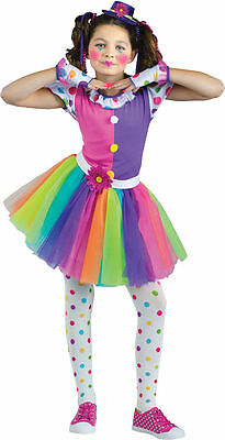 Clownin' Around Clown Costume for Girls size 4-6 New by Fun World 123482 - Clown Costume For Girl