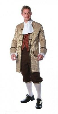 Deluxe Colonial Man Historical Columbus Adult Men's Costume Standard Plus Size