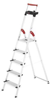 Hailo XXR 5 Stufen Alu-Sicherheits-Haushaltsleiter 5-XXL Stufen EasyClix Leiter