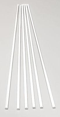 6 Pcs 316 Diameter 12 Long Clear Acrylic Plexiglass Lucite Plastic Rod .187
