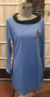 Star Trek Uhura Blue Dress Ladies Size Medium Halloween costume