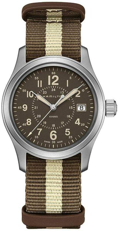 Hamilton-Men-H68201093-Khaki-Field-Brown-Dial-38mm-Nylon-Watch