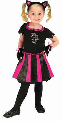 Black Cat Toddler Costume (Morris Costume Girls Cat Sweetheart Toddler Costume Black Pink 3T-4T.)