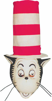 Morris Costumes Vinyl Cat In The Hat Mask With Hat. 14018