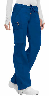 Low Rise Drawstring Pant - Code Happy Women's New Low Rise Straight Leg Drawstring Cargo Scrub Pant. 46000A