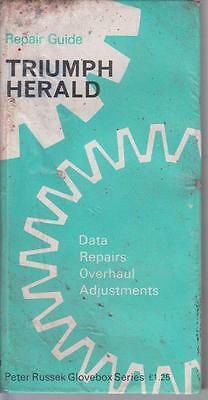 TRIUMPH HERALD 1200 12/50 13/60 SALOON COUPE CONVERTIBLE 1959-71 REPAIR HANDBOOK