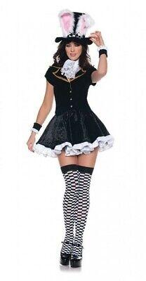 Totally Mad White Rabbit Alice In Wonderland Women's Costume Dress SM MD LG XL - Alice In Wonderland Costume White Rabbit