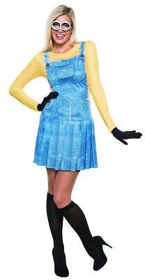Despicable Me Minions Movie Female Minion Costume Adult Dress Goggles (Womens Despicable Me Minion Kostüm)