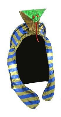 Pharaoh Headpiece Economy Costume Hat Kink Tut Egypt Snake Gold Egyptian