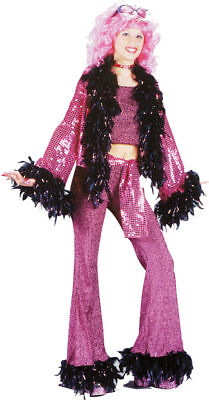 Disco Costumes Women (Morris Costumes Women's Retro Disco Diva Teen Adult Costume Pink 0-9.)