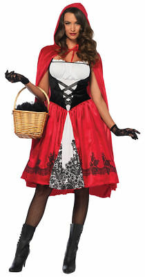 Morris Costumes Women's Red Riding Hood Costume Red Black M. UA85614MD](Black Riding Hood Costume)