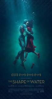 THE SHAPE OF WATER - Admits 2 - DOUBLE MOVIE PASS/Cinema Ticket