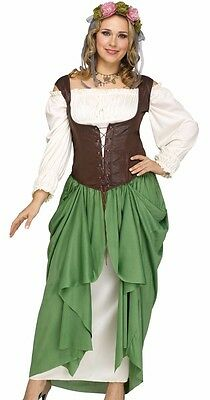 Tavern Maiden Costume Oktoberfest Renaissance Beer Wench Maid - Plus Size 1X 2X - Beer Wench Costume Plus Size