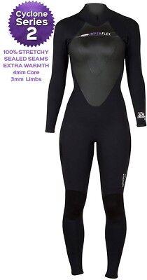 - Hyperflex Cyclone2 3/2mm GBS Women's Fullsuit Wetsuit Size 6