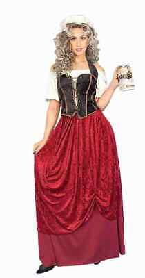 TAVERN WENCH ADULT HALLOWEEN COSTUME SIZE STANDARD FITS UP TO SIZE  - Size 14 Halloween Costumes