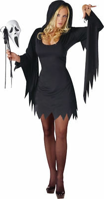 Morris Costumes Women's Tv & Movie Characters Scream Hooded Dress M/L.FW110854ML (Black Dress Halloween Character)