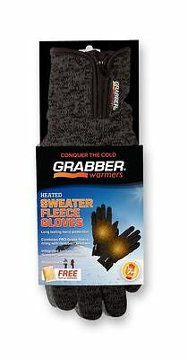 Grabber Warmers GBGGLXL 7+ Hour Heated Sweater Fleece Large/Extra Large Glove, G