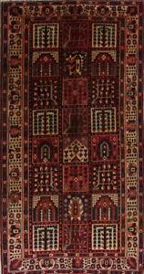 Handmade Garden Design 5x10 Wool Bakhtiari Persian Oriental Rug 9' 11