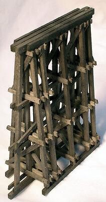 Framed Timber Bridge Pier Ho Model Railroad Structure Wood Kit Hl107h