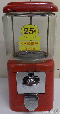 Oak Acorn Bulk Vending Machine 25 cent Cashew Nut Machine