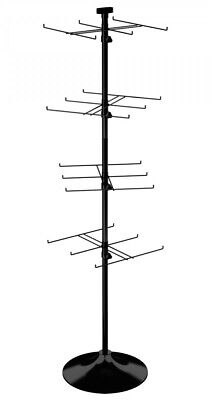 Floor Display Rack - 24 Hook For Merchandise Up To 7.5 Wide Round Base Black
