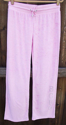 BCBG MAX AZRIA PINK POLYESTER CRYSTAL GEM WORKOUT FITNESS YOGA PANTS M /33 NEW