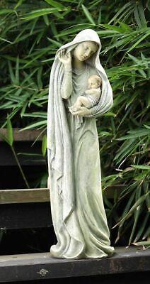 Virgin Mary Madonna Baby Jesus Indoor Outdoor Garden Statue Madonna Garden Statue