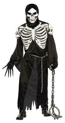 Men's Grim Reaper Skeleton Crypt Keeper Halloween Costume adult USA free ship
