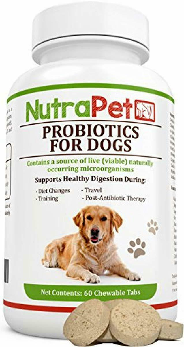 NutraPet Probiotics for Dogs Chewable, Digestive Health Supp