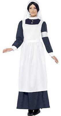 Ladies Wartime Nurse Victorian WW1 Fancy Dress Costume Outfit 12-22 Plus - Nurses Outfit Plus Size