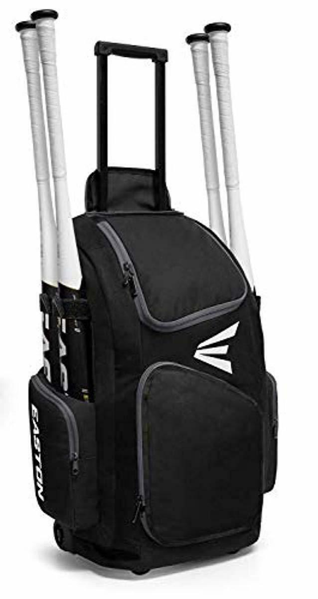 Details About Easton Traveler Baseball Softball Wheeled Backpack Rolling Bat Bag Pack 4 Colors