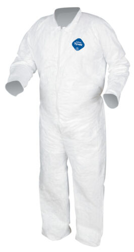 Dupont TY120 Tyvek Coveralls w/ Open Wrists and Ankles - 1 SUIT - MEDIUM - XXXL