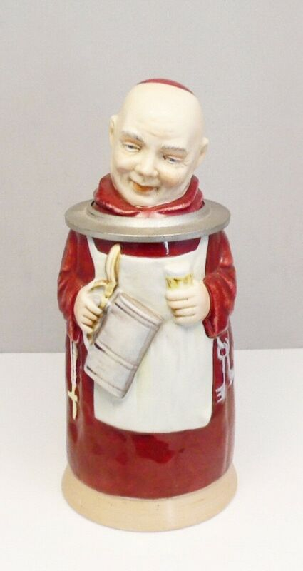 Antique Wilhelm Rittirsch German Character Friar Monk Beer Stein ~ Free Shipping