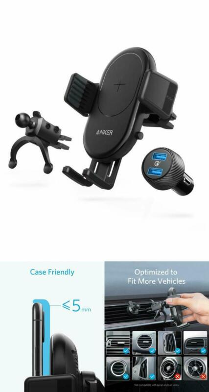 Anker PowerWave Fast Wireless Car Charger with Air Vent Phon