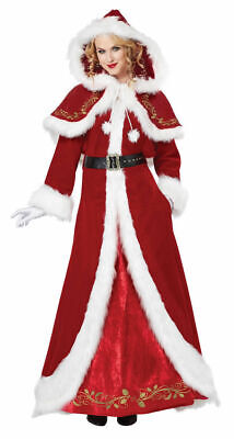 Mrs. Claus Deluxe - Christmas Female Santa Costume