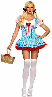 NEW WOMENS M/L SEXY DIVA DOROTHY WIZARD OF OZ COSTUME