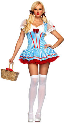 Halloween Leg Avenue Wizard of Oz Diva Dorothy costume size S/M