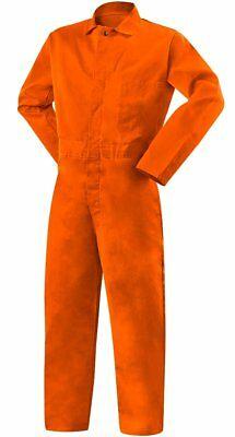 Large Coveralls Flame Resist 9oz Safety Orange Steiner Welding Jumpsuit 1045-l