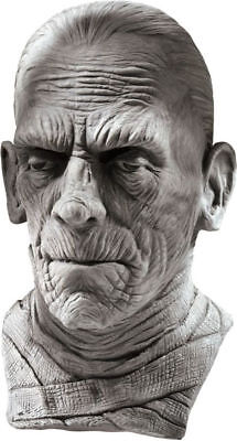 Mummy Mask Costume (Morris Costumes Men's New Horror Mummy Over The Head Deluxe Latex Mask.)